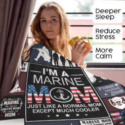 I'm A Marine Mom Blanket A Normal Mom Except Much Cooler