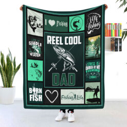 Reel Cool Dad Fishing Dad Blanket