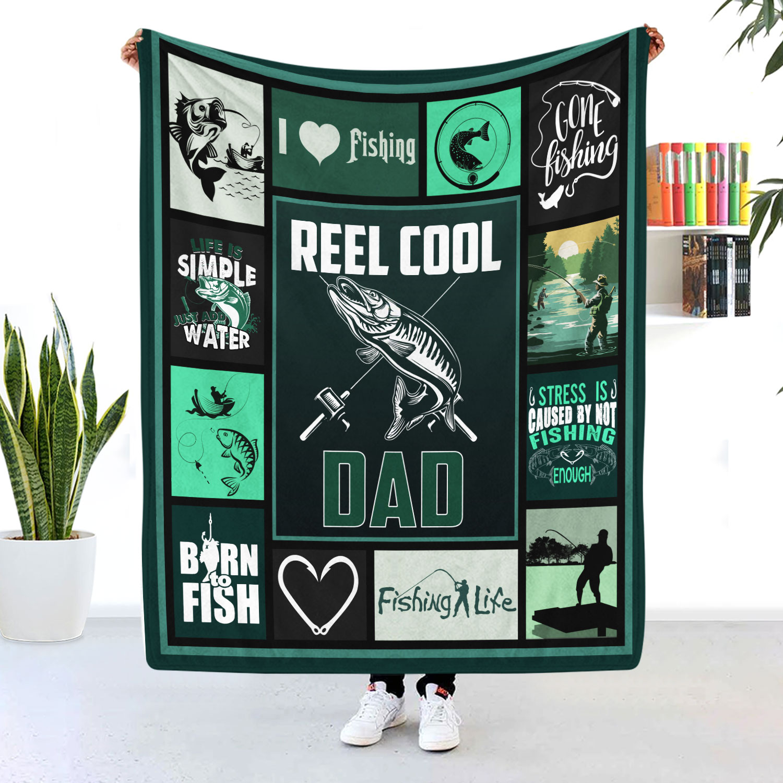 Reel Cool Dad Fishing Dad Blanket
