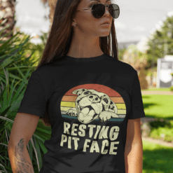Resting Pit Face Shirt Funny Vintage Pitbull Lovers Tee