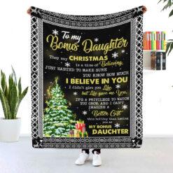 To My Bonus Daughter I Believe In You Blanket