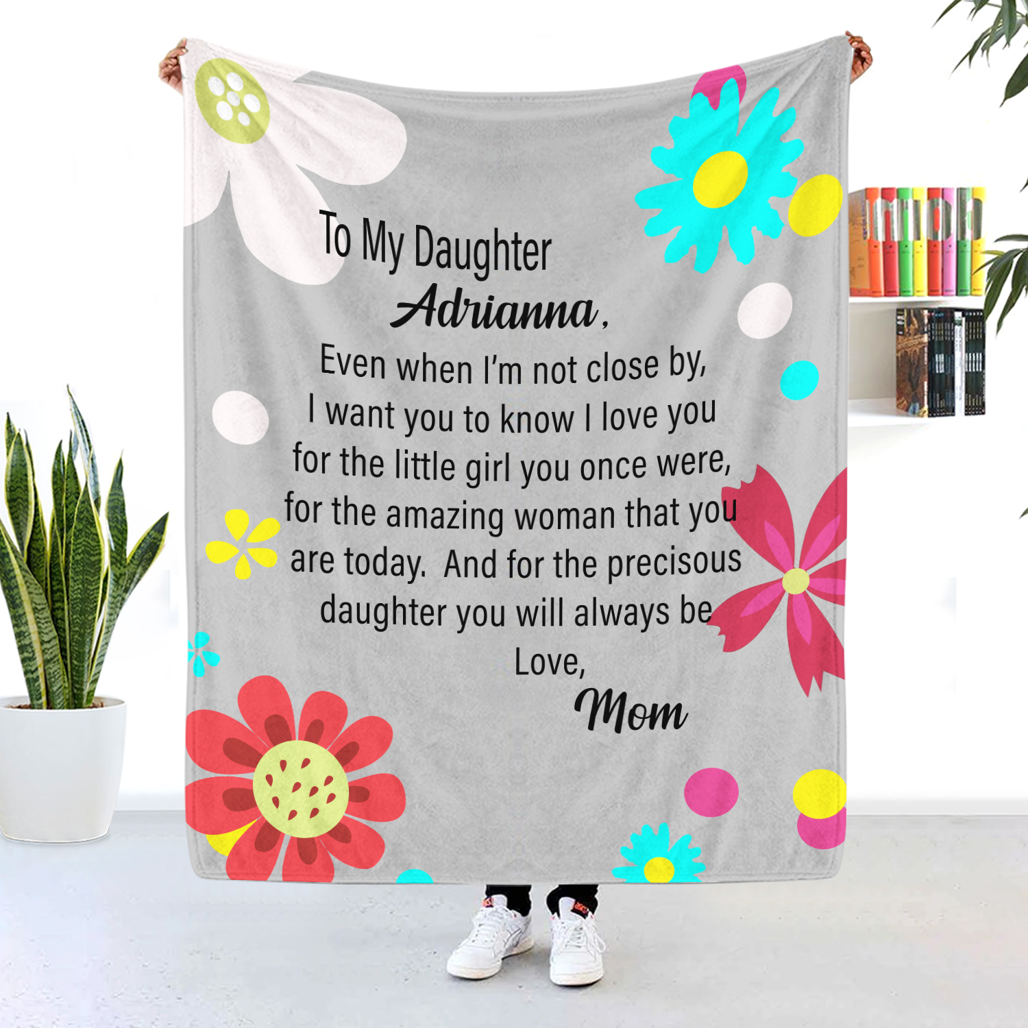 To My Daughter Even When I'm Not Close By Personalized Blanket