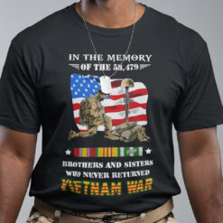 Vietnam Veteran Shirt Memory Brothers And Sisters Never Returned