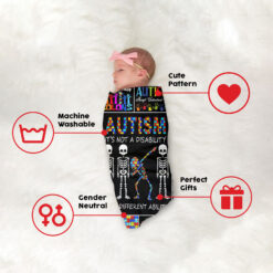 Autism It's Not A Disability It's A Different Ability Blanket