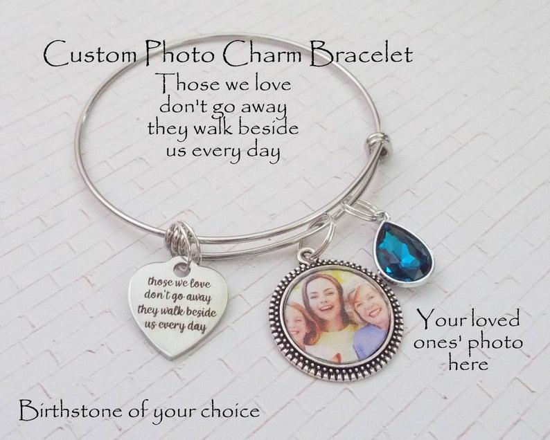 Custom Memorial Charm Bracelet 1