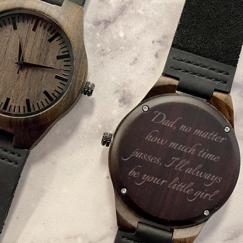 Custom engraved watch