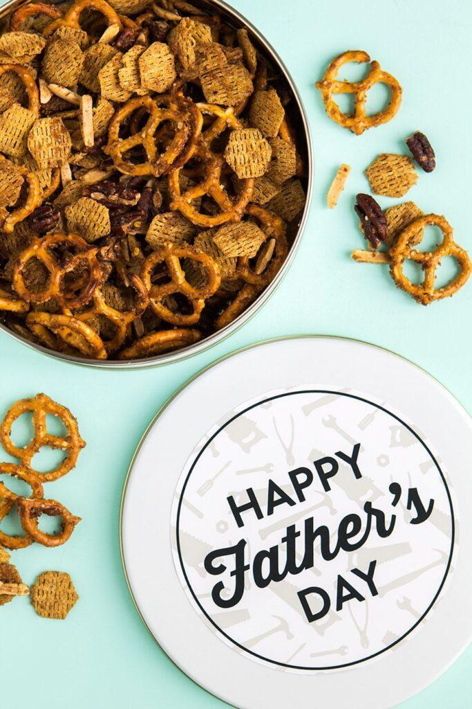 DIY Snack Tin- gift for dad diy