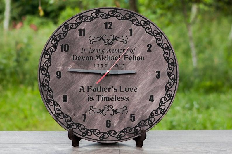 Dad Memorial Wood Clock