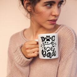 Dog Dad Coffee Mug Dog Paw Dog Bone