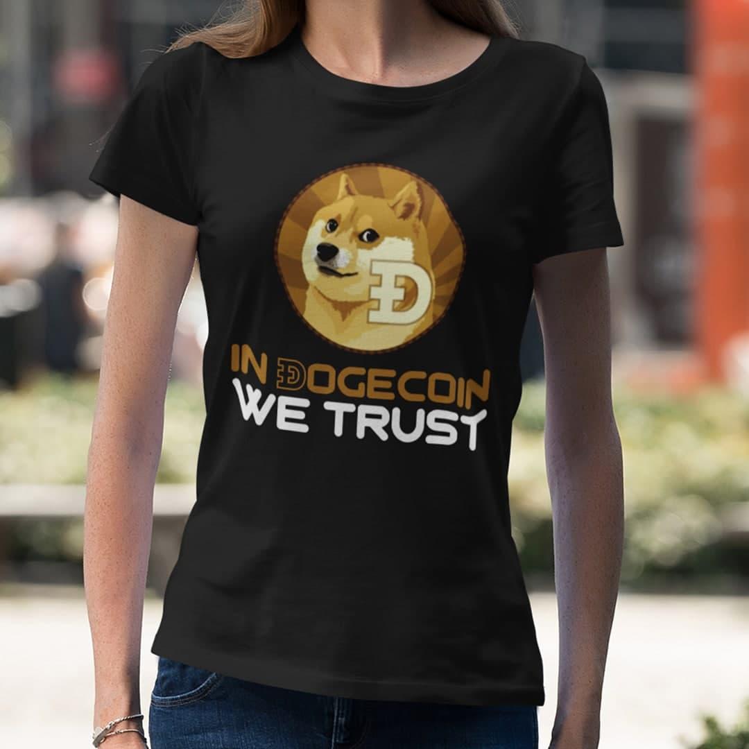 Dogecoin T Shirt In Đogecoin We Trust