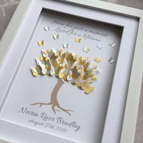 Framed Butterfly Tree - Meaningful gifts for dad who lost baby