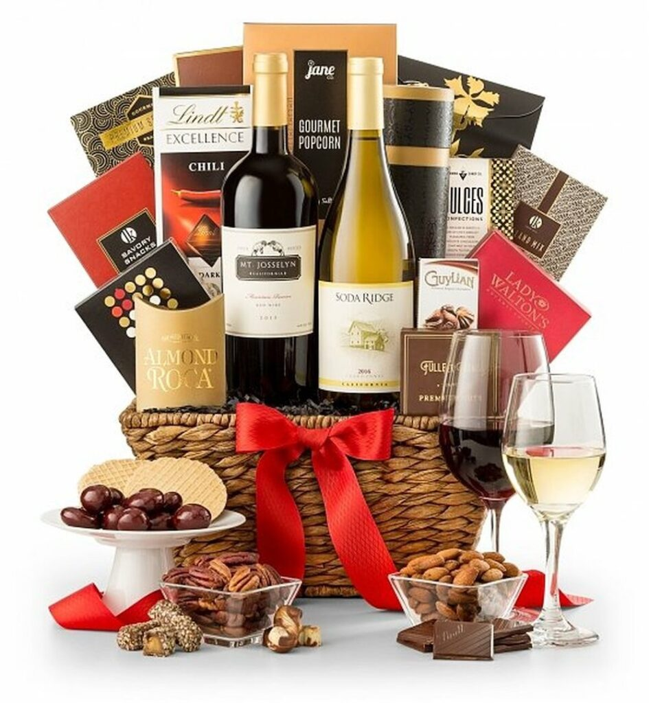 GiftTree Expressions of Sympathy Wine Basket- gift for groom whose dad passed