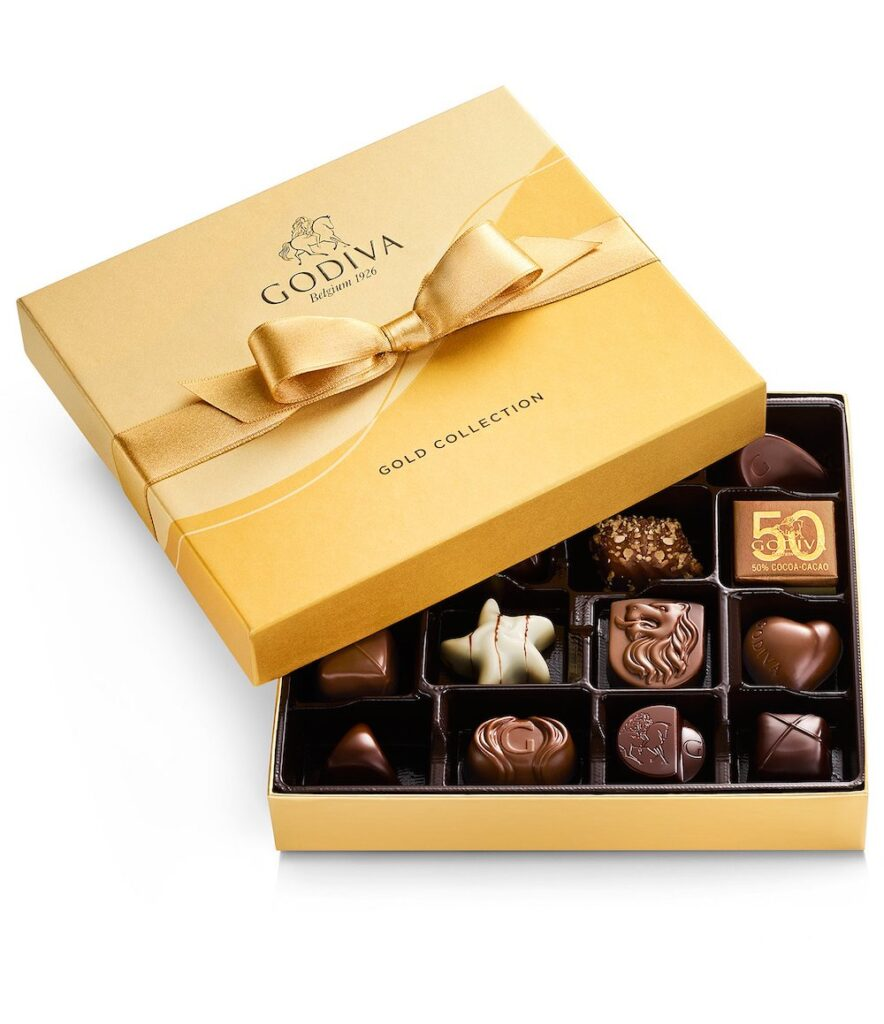 Godiva Gold Gift Box- what to give when someone passes away