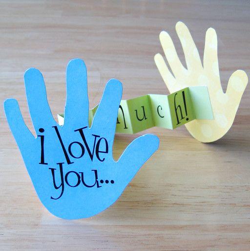 I Love you Hand Card