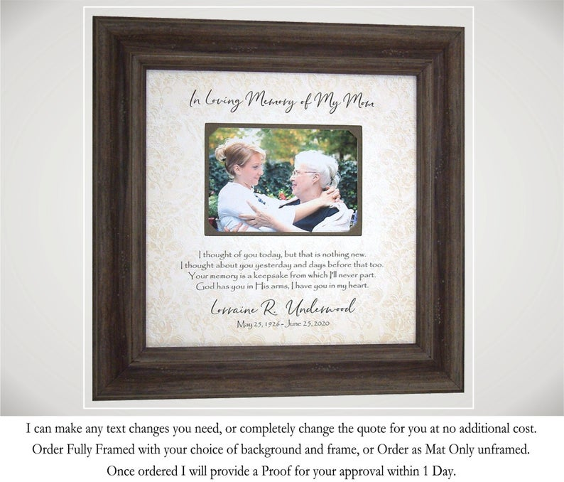 In Memory Of Frame- gift for groom whose dad passed.
