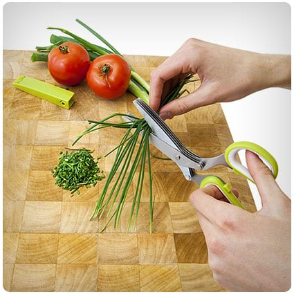 Jenaluca Herb Scissors - Best gifts for dad who likes to cook