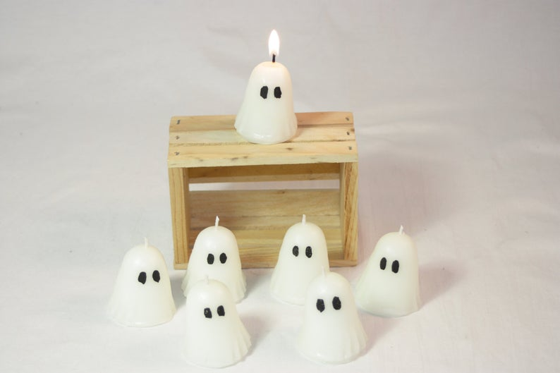 Mini Ghost Candle- great holiday gifts for teacher.