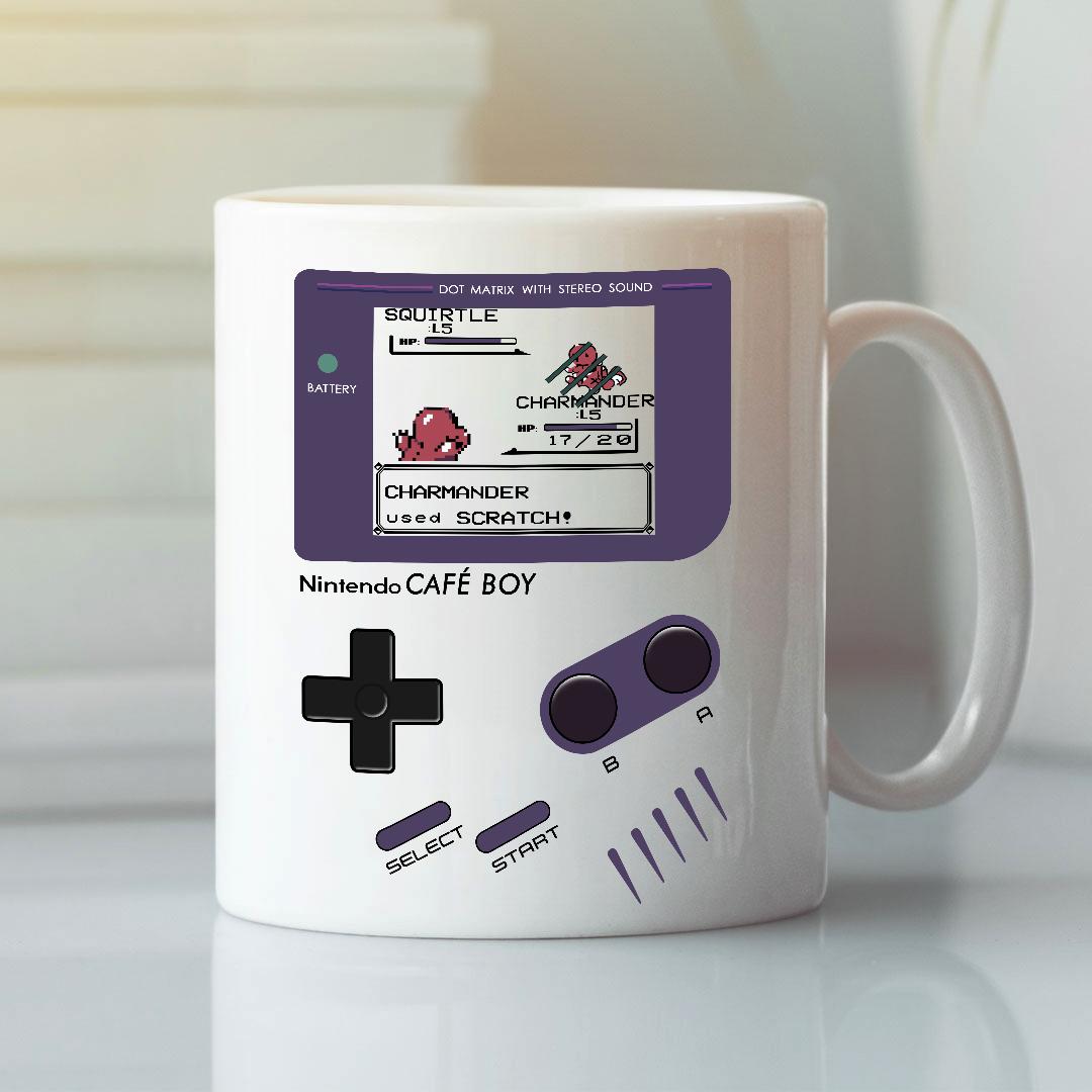 Nintendo Game Boy Mug Dot Matrix With Stereo Sound