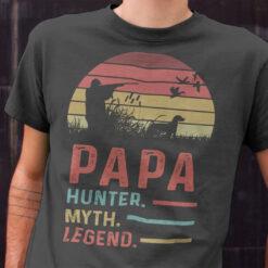 Papa Hunter Myth Legend Shirt