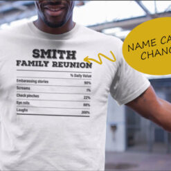 Personalized Family Reunion Tshirt mock