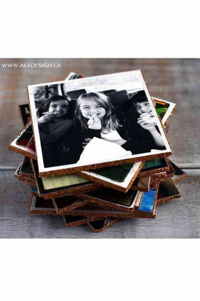 Personalized Photo Coasters- best gift for dad diy