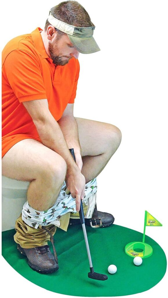 Potty Putter Toilet Time Golf Game- funny gift for dad who has everything amazon.
