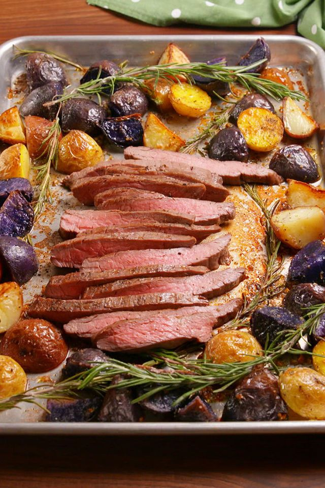 Sheet Pan Balsamic Steak Potatoes