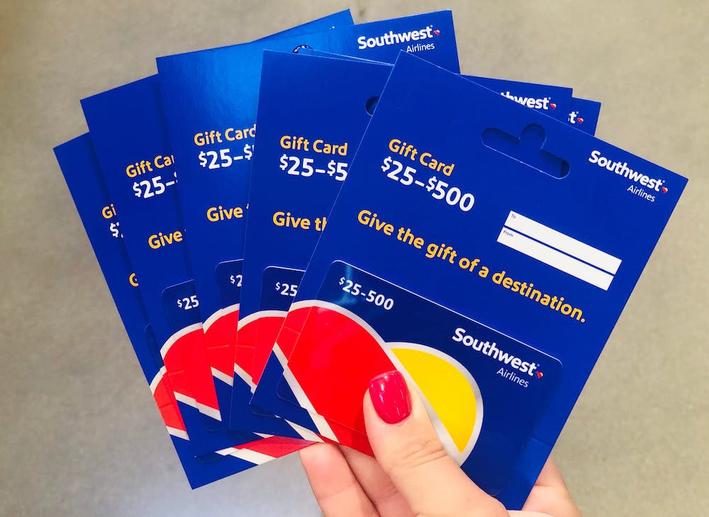 Southwest Airlines Gift Card- gift for firend whose dad has cancer