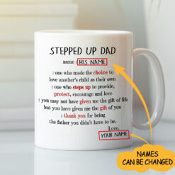 Stepped Up Dad Definition Personalized Mug