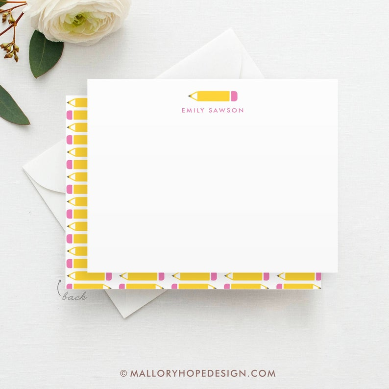 Teacher Stationery Set- great holiday gifts for teacher.