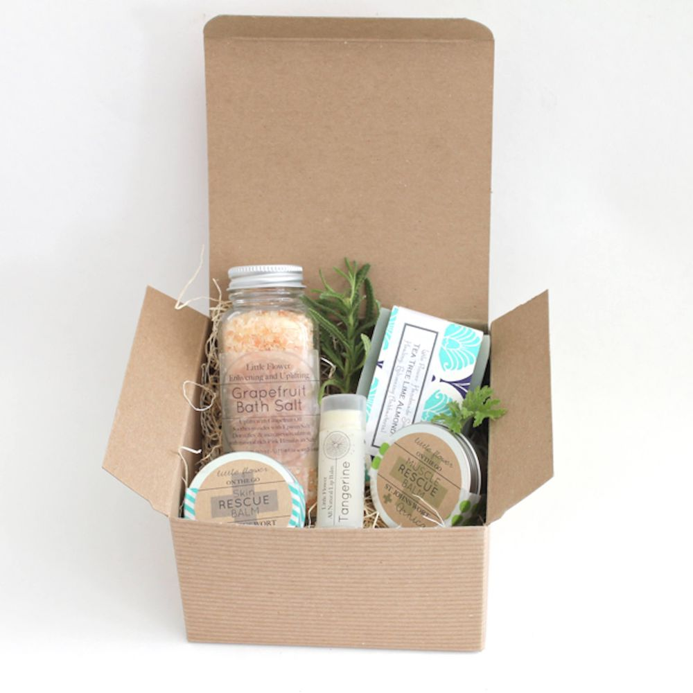 The Little Flower Soap Co. Essential Oil Aromatherapy Gift Box- great holiday gifts for teacher