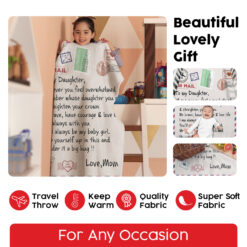 To My Daughter Be Brave Have Courage And Love Life Blanket