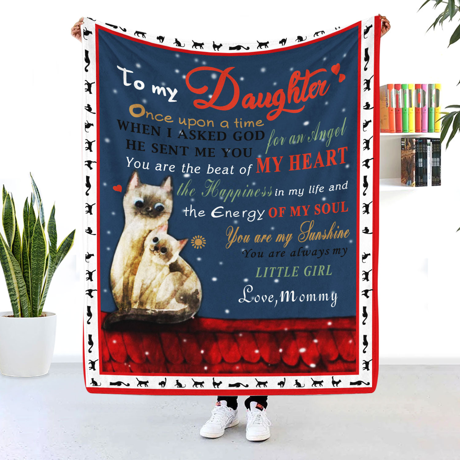 To My Daughter You Are My Sunshine Cat Blanket