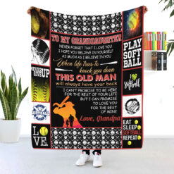 To My Granddaughter Never Forget I Love You Softball Blanket