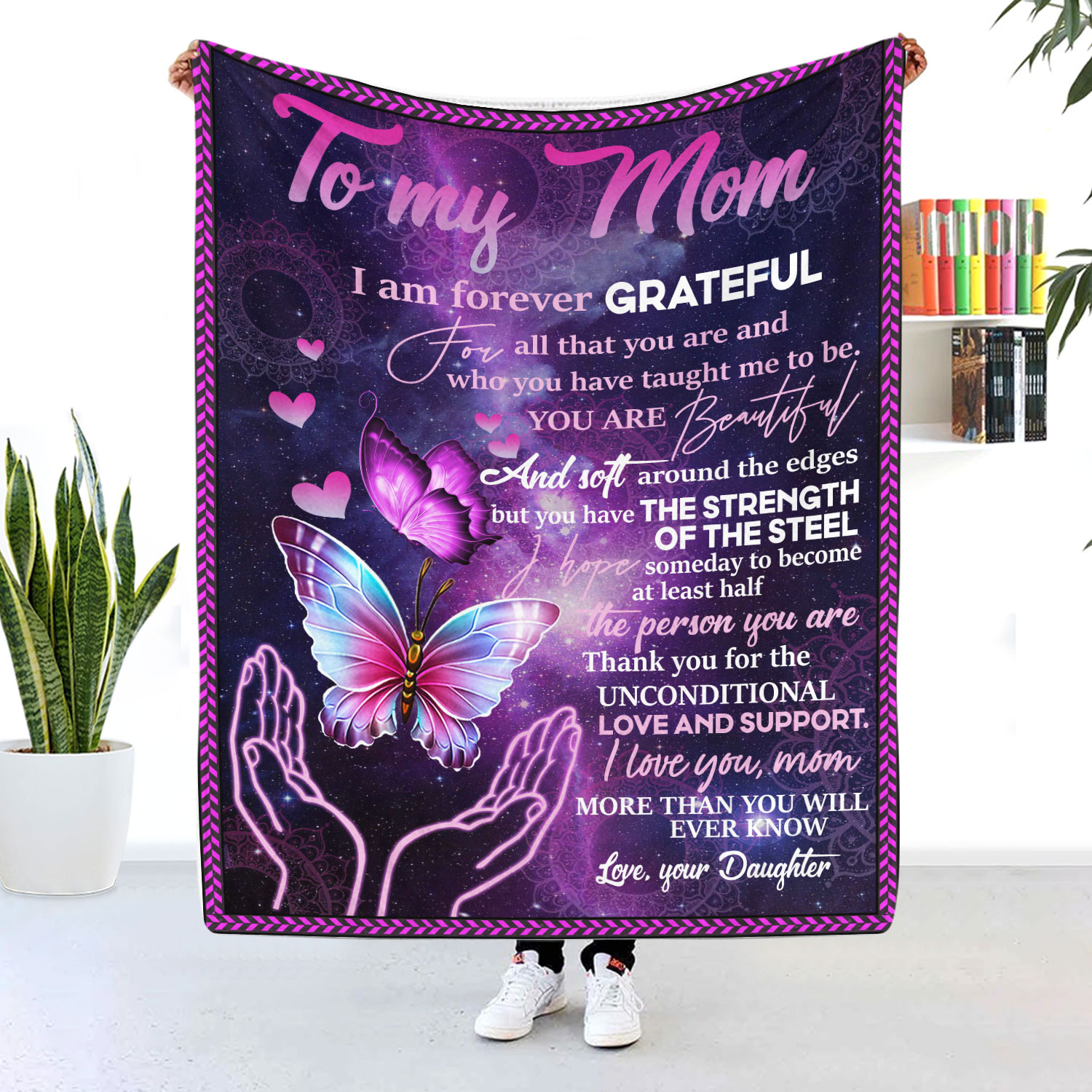 To My Mom I Am Forever Grateful For All That You Are Blanket