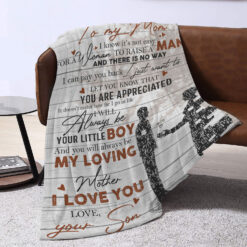 To My Mom Your Are Appreciated Mom And Son Blanket