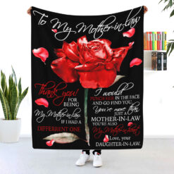 To My Mother In Law You're My Mother In Heart Rose Blanket