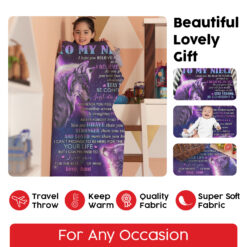 To My Niece I Hope You Believe In Yourself Wolf Blanket