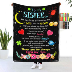 To My Sister Thank You For Being My Rock Blanket