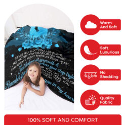 To My Son Never Feel That You Are Alone Mom And Son Blanket