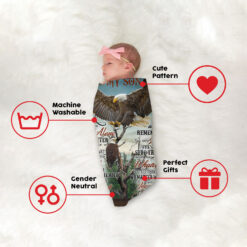 To My Son Never Feel That You Are Alone Eagle Blanket
