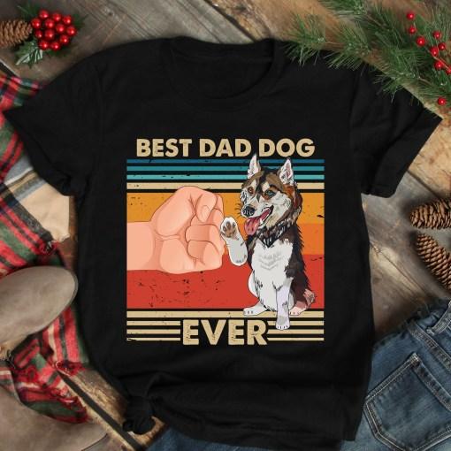 Vintage Best Dad Ever Shirt Best Husky Dog Dad Ever