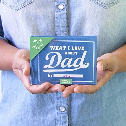 What I Love About Dad Fill in The Love Journal- last-minute Father's Day gifts