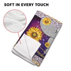 You Are My Sunshine Sunflower Elephant Blanket