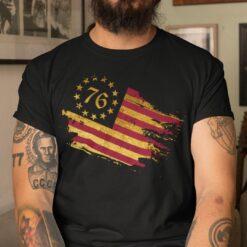Besty Rose 1776 Flag Shirt For Men And Women