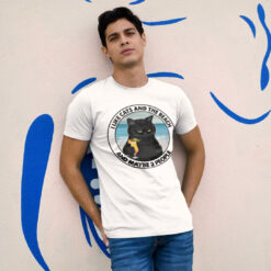 Black Cat I Like Cats And Beach And Maybe Three People Shirt