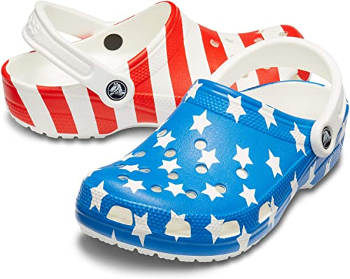 Crocs Men's Classic American Flag Clog- best Independence Day gift for dad