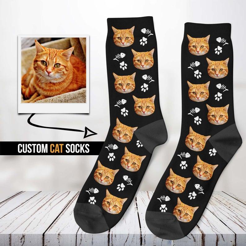 Custom Cat Socks- best cat mom gifts