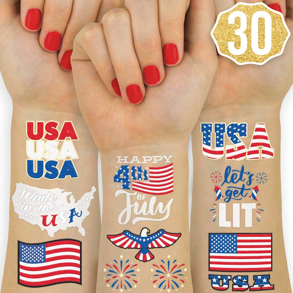 Fetti Fourth of July Decorations Temporary Tattoos- best Independence Day gift for mom.jpg