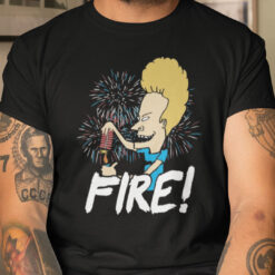 Fire Firework 4th Of July Shirt
